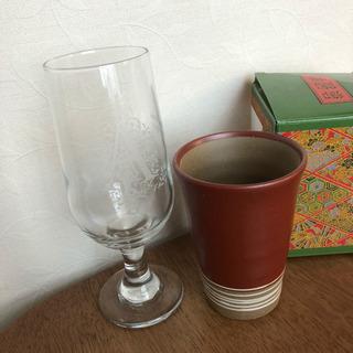 【無料0円】新品 陶器カップとピルスナーグラス