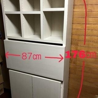 収納デスク、棚、シェルフ
