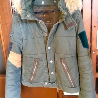 冬用のフード付きジャケット フード取り外し可能