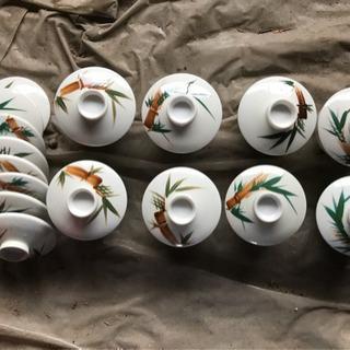 蓋つき煮物碗 瀬戸物 8個