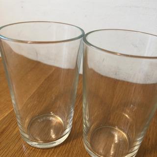 ガラスのコップ2個