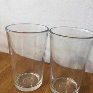 ガラスのコップ2個セット