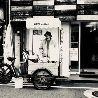 三輪車移動式屋台 珈琲屋