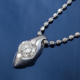 Pt900/850 ダイヤモンド プチネックレス 品番7-257