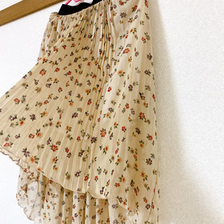花柄 テールスカート スカート