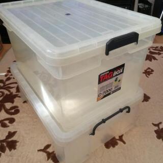 プラスチック製収納ボックス、すのこ