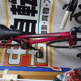 x【エコプラス小倉南店】ジャイアント クロスバイク ピンク 3×...