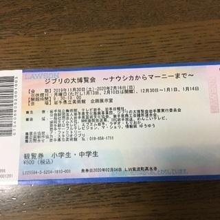 ジブリの大博覧会のチケット