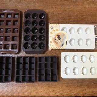 バレンタインは過ぎましたが・・製菓用シリコン型5個、チョコレート...