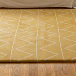 【中古品】ラグマット185x185cm 黄色