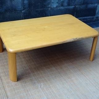 【1枚】木製折りたたみ継ぎ脚テーブル 90×60㎝ お部屋に一台...