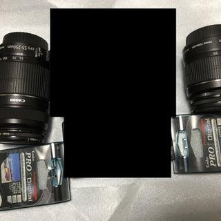 キヤノン CANON EOS 7Dの付属品(本体なし)純正ダブルレンズ