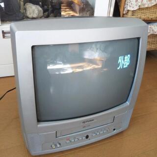 差し上げます テレビデオ FUNAI ジャンク品 リモコン付き