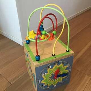 ベビー知育玩具 木製 5種類の遊び