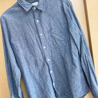 【値下げ中!!!美品】襟付きシャツ グレー