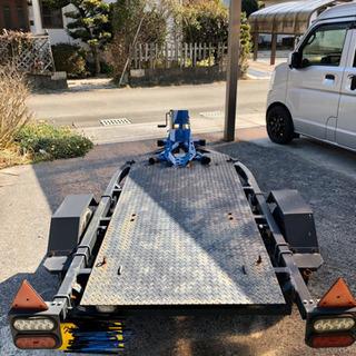 軽トレーラー バイク フラット 牽引 レース 福岡 引き取り限定