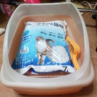 花王 猫トイレ 砂付き