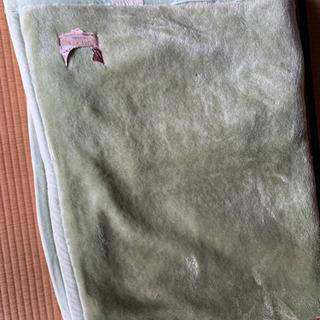 毛布、緑色