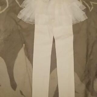新品未使用 サイズ145-155  レギンス シフォンスカート付...
