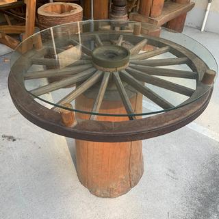 大八車車輪テーブル ダイニングテーブル アンティーク