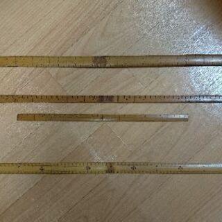 竹製 尺定規 及び JIS定規
