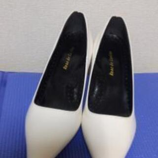 【新品】白パンプス☆21cm