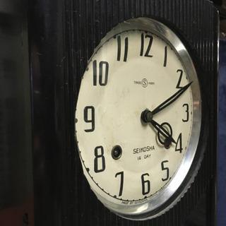アンティーク柱時計 2週間巻き完動品