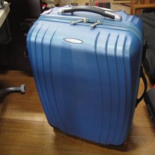 トラベルエキスパート スーツケース カギ付き 青 ブルー キャリ...