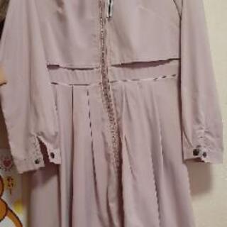 くすみピンク トレンチ コート ワンピースXL