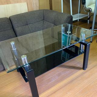 ガラステーブル&ローソファセットの画像