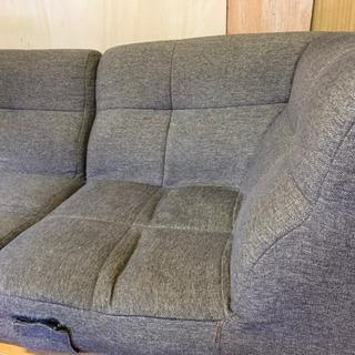 ガラステーブル&ローソファセット - 家具
