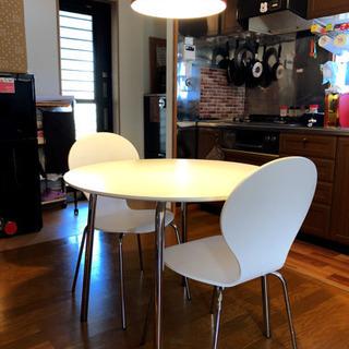 ◆ニトリ◆丸型テーブルラフィネ◆椅子セット
