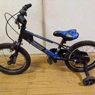 ハンドブレーキとトレーニングホイールを備えた14インチの子供用自転車