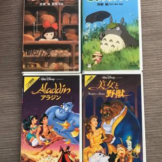 VHSビデオテープ ジブリ&ディズニー&グランブルー