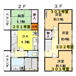 プライベート◎。鍵付き個室。洋部屋5畳。鉄道5線 便利な北千住。...