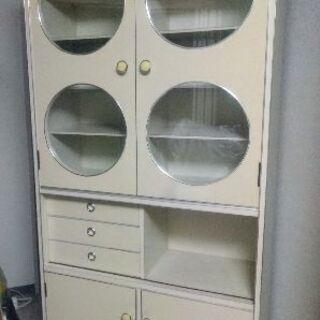 食器棚 戸棚 飾り棚 カップボード キャビネット ポップ 昭和レトロ