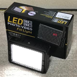 UTEBIT 照明 撮影ライト LED 204球 ビデオライト ...
