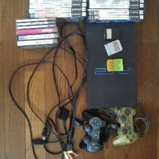PS2本体とソフト(写真のとおり)