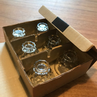 yamato glass 菊 6コ