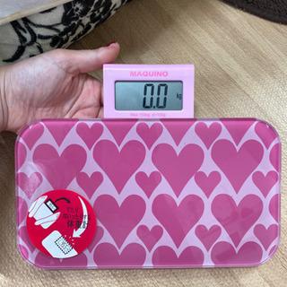 【美品】体重計 ピンク オシャレ