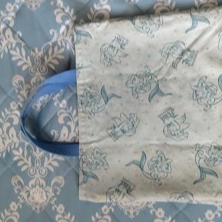 リトルマーメイドの通学サブバッグ ハンドメイド布製  ⭐️リバーシブル