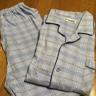 パジャマ メンズ ブルー M 長袖