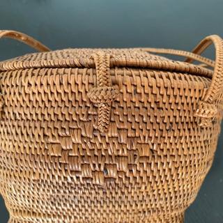 アジアン雑貨 籐の小さなバッグ 浴衣にも普段にも