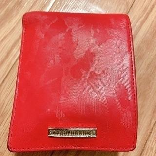 サマンサキングス 二つ折り財布 カモフラレッド