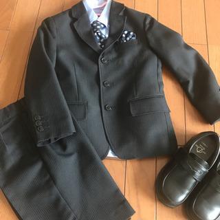 美品★卒園式★入学式★男の子スーツ★110 ★靴もセット