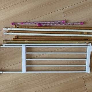 ▹佐賀近郊の方◁突っ張り棒10本+突っ張り棚