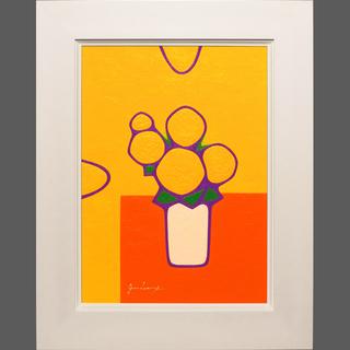 私が描いたアクリル画です。●お部屋が明るく●『黄色い花』がんどう...