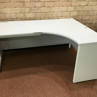 S50 L字型 事務机 パソコンデスク 作業台 W1600×D1...