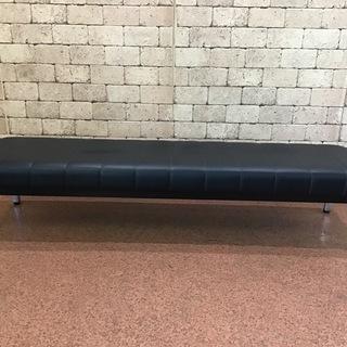 ロビーベンチ レザー 待合室など 長椅子 W1800×D460×...