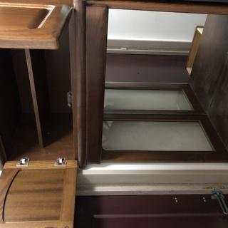 無料 玄関収納 靴箱(鏡つき)  幅76cm 奥行41.5cm 高さ218cm - 家具